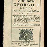 Anno Regni George MS